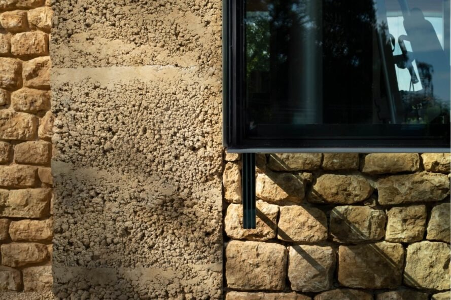 glass and natural wall exterior