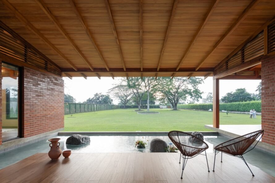 patio with views of green landscape