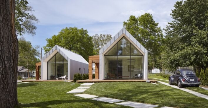 photo of Students fight urban sprawl with a subdivision for two LEED Platinum houses image