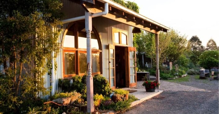 Chic B&B in New South Wales is inside a shed made of upcycled materials