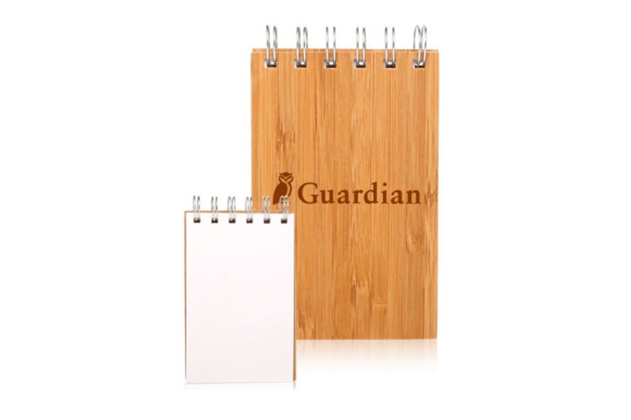 notebook with bamboo cover