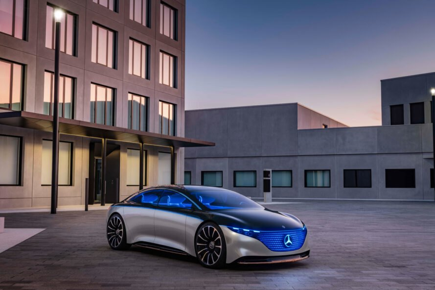 Mercedes Benz presents a luxury electric car