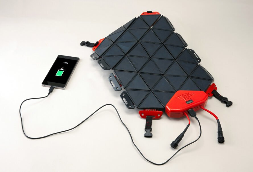 SunUp is a solar panel system perfect for hikers and adventurers