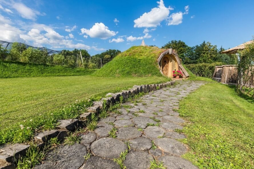 stone path leading to hobbit home