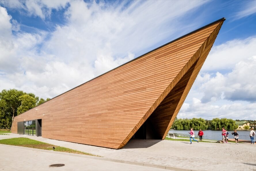 triangular wood building