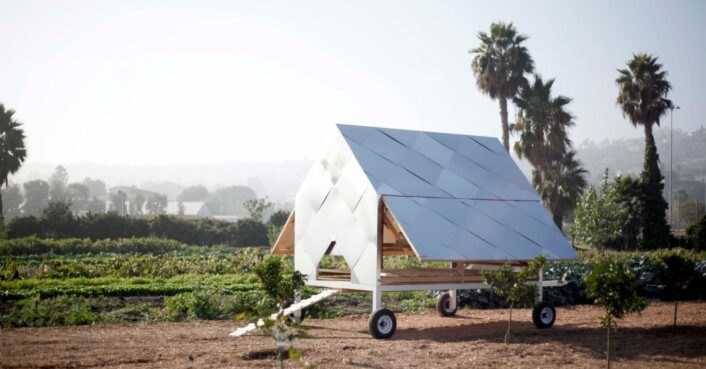 These solar-powered, mobile chicken coops help farmers prepare for harvest