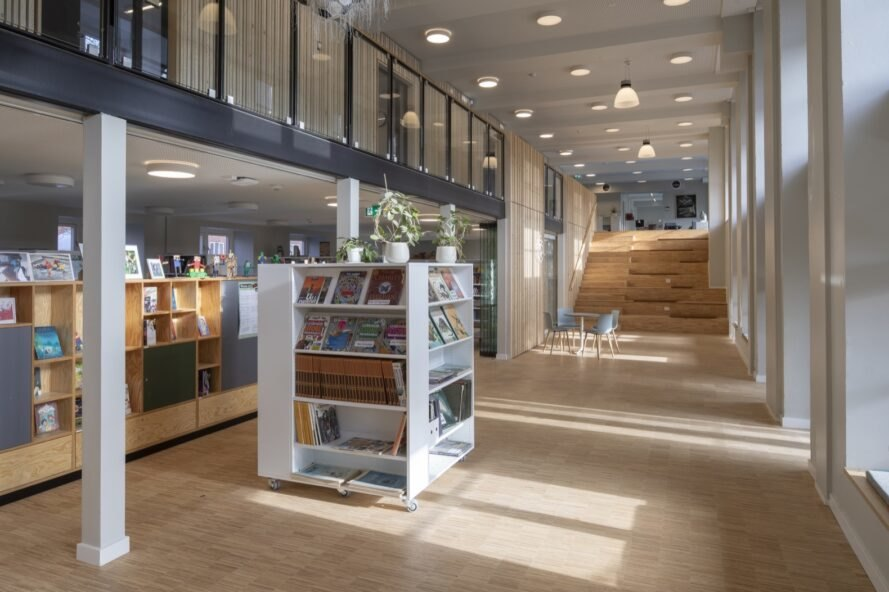 library inside a school building