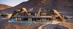 hotel located in expansive desert