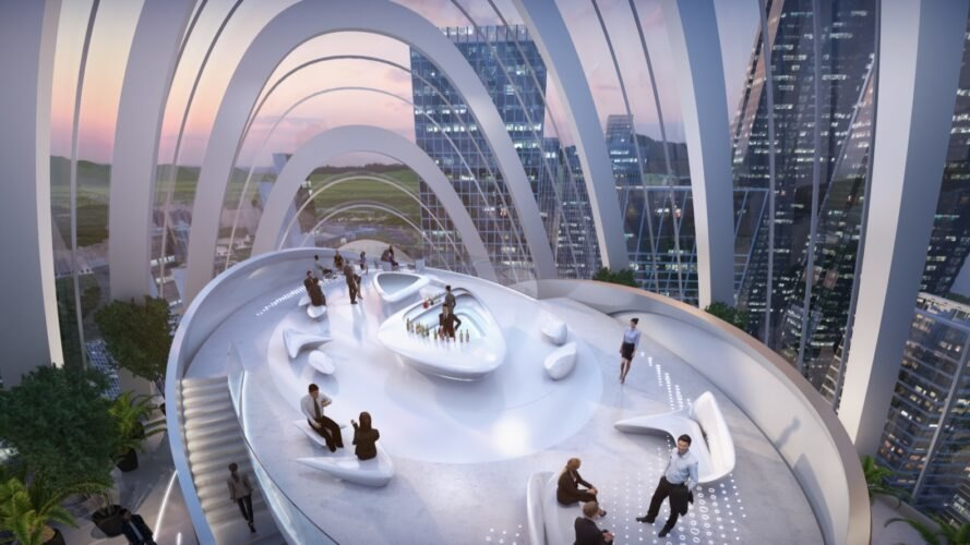 rendering of observation deck enclosed in glass
