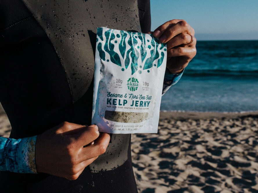 Carbon-negative snack company AKUA offers kelp jerky and pasta