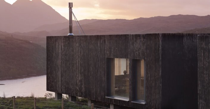 Cross-laminated timber makes this Scottish home climate resistant