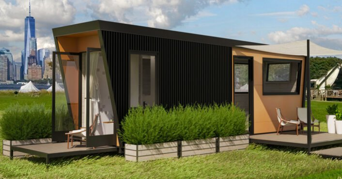 New tiny home for glamping on Governors Island offers guests the best views of NYC