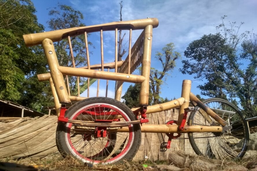 bamboo bike with three tires
