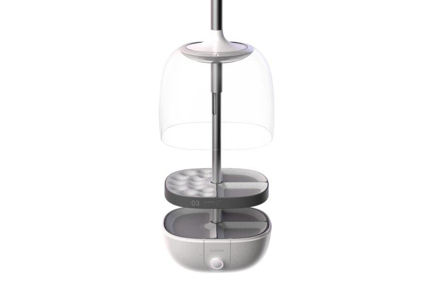 hanging container with three separate parts