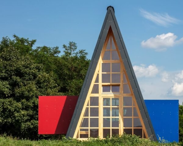 triangular wooden cabin