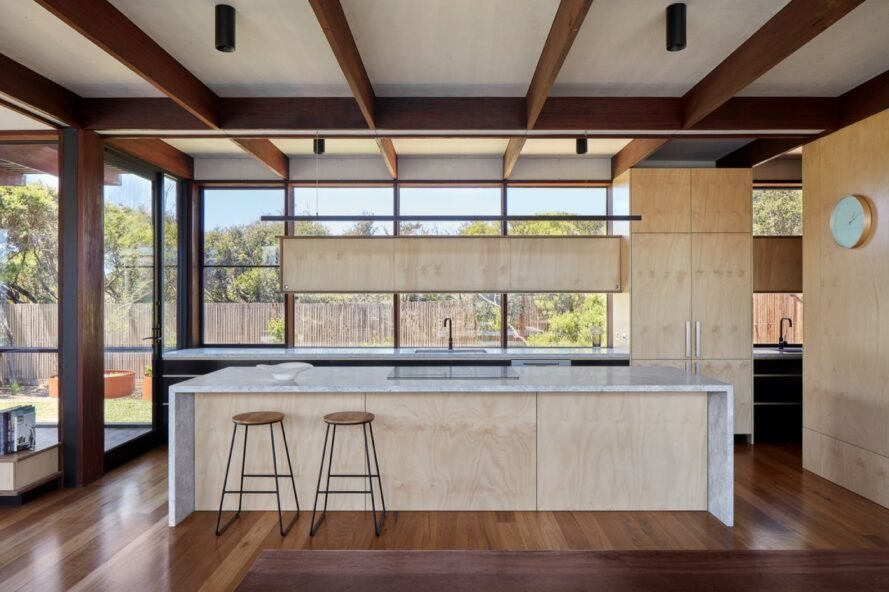 plywood kitchen counters and island