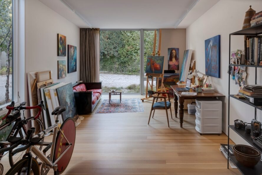 large art studio space in private home