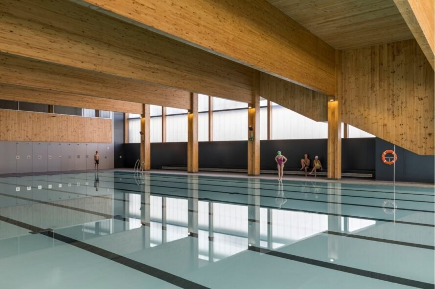 Olympic sized indoor swimming pool