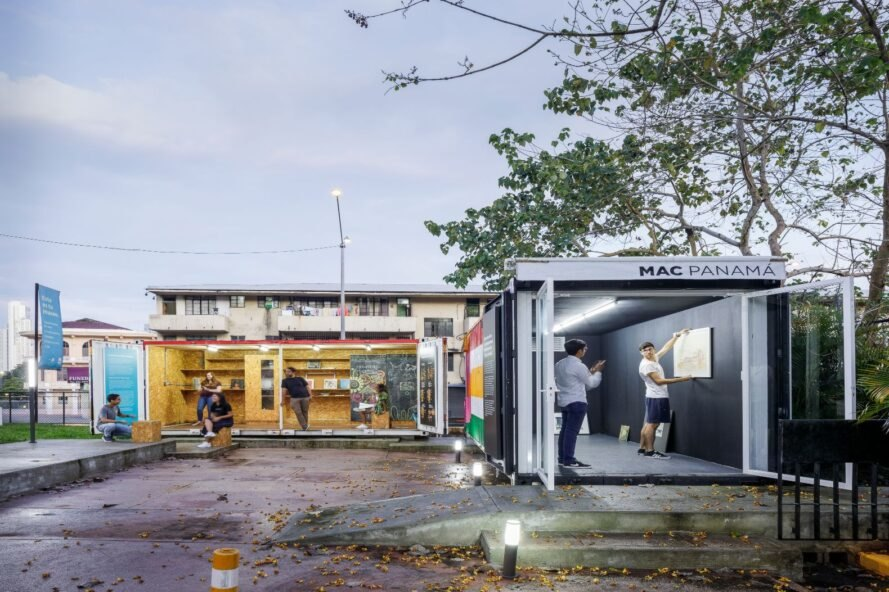 two shipping containers turned into a museum