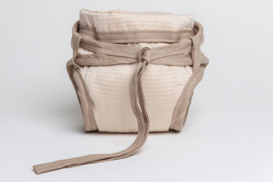 tan reusable diaper