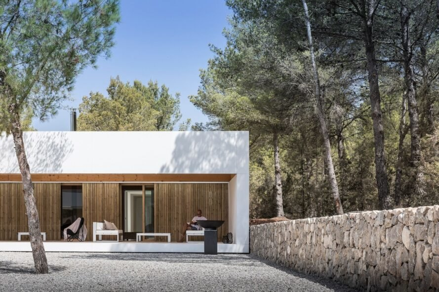 white home with open wall