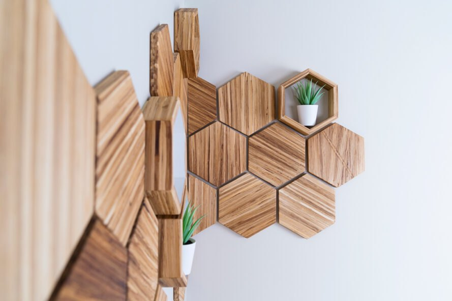 wall decor made from chopsticks