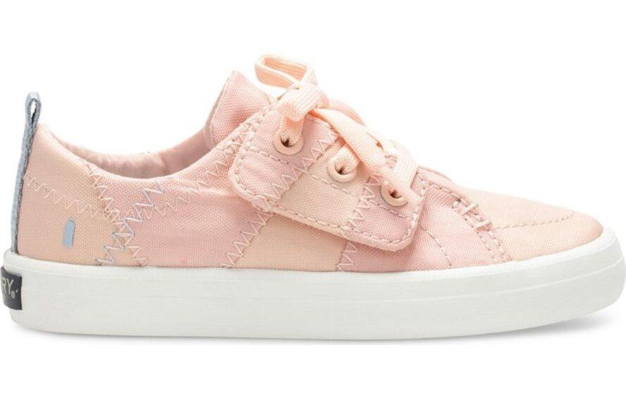girl's pink shoe with laces