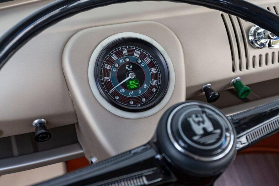 speedometer inside VW electric van