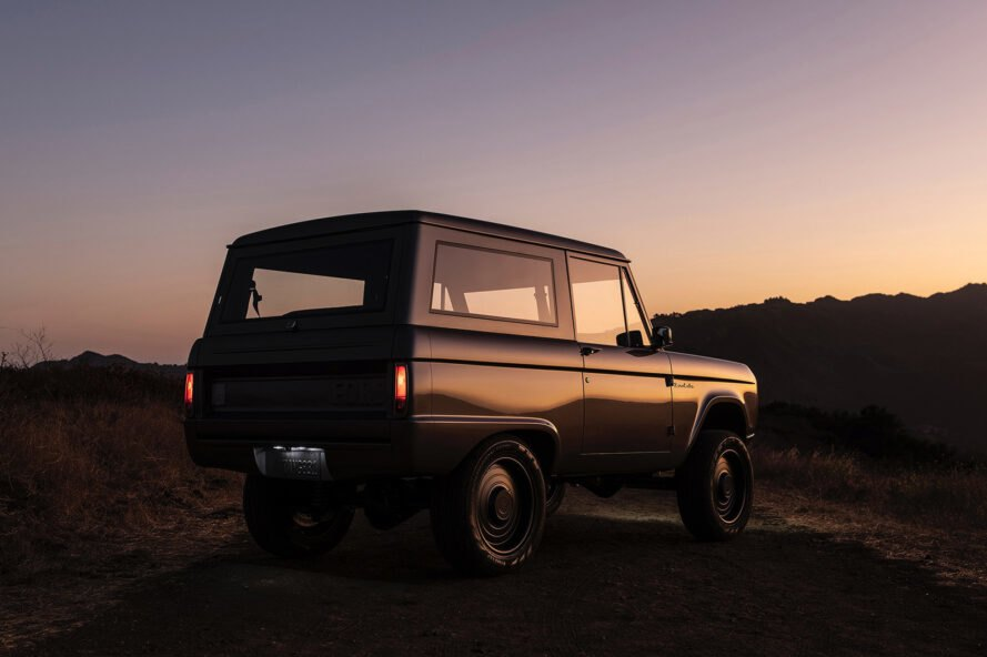 angled view of Ford Bronco at dusk