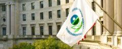 Environmental Protection Agency flag on the EPA building