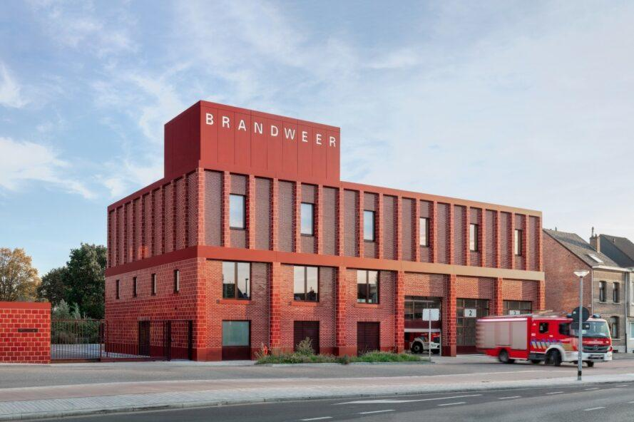 red brick building with the word Brandweer written on the top