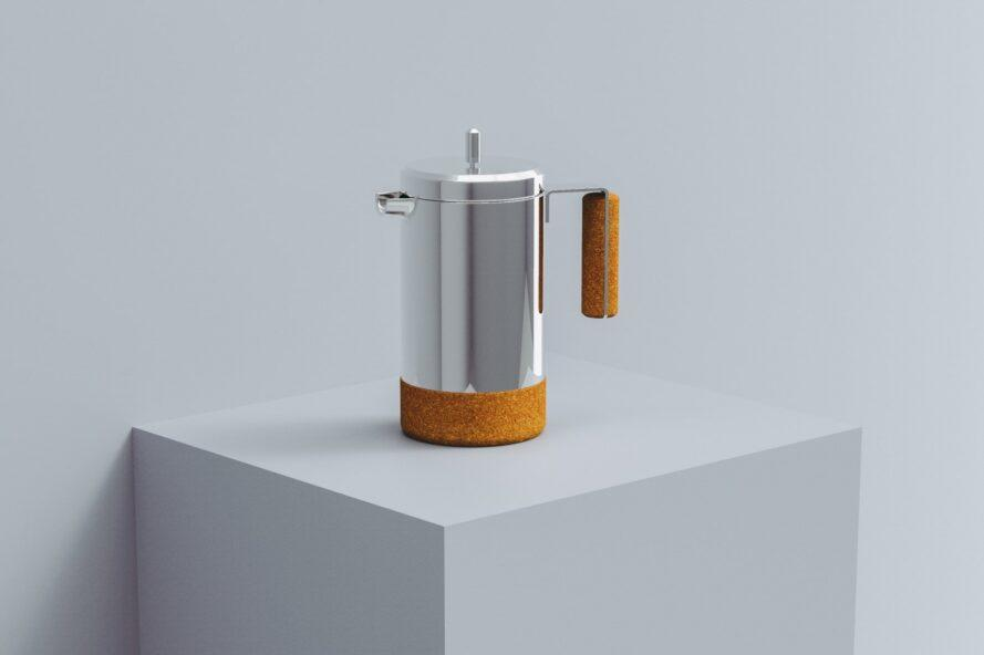 French Press with cork base