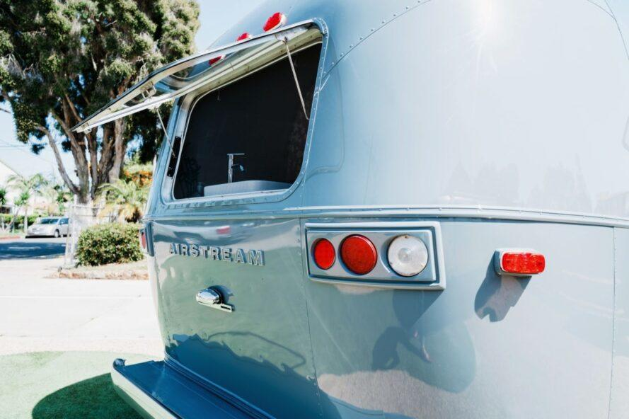 opened window on back of Airstream