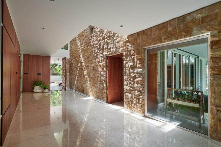 doorway made out of natural stone walls