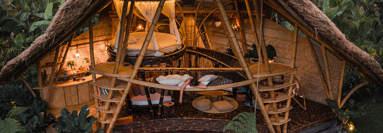 This glamping hideout in Bali is made entirely out of bamboo