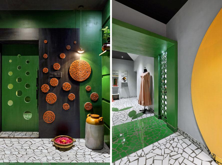 This fashion boutique in India is crafted from recycled materials