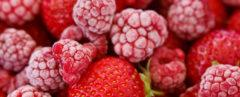 frozen raspberries and strawberries