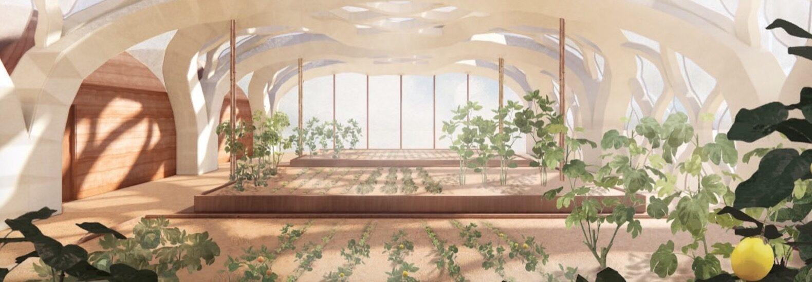 Student designs inflatable bamboo greenhouses for sustainable farming