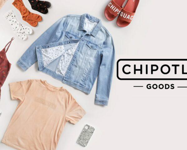 to the left, a spread of clothing including a denim jacket, peach-colored t-shirt, dark red tank top and red flip-flops that says