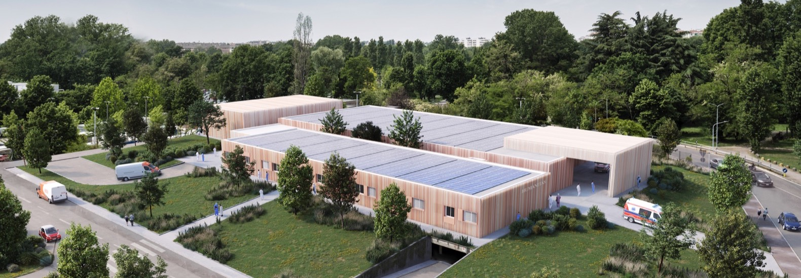 Modular Emergency Hospital 19 pops up in Italy in just 3 months