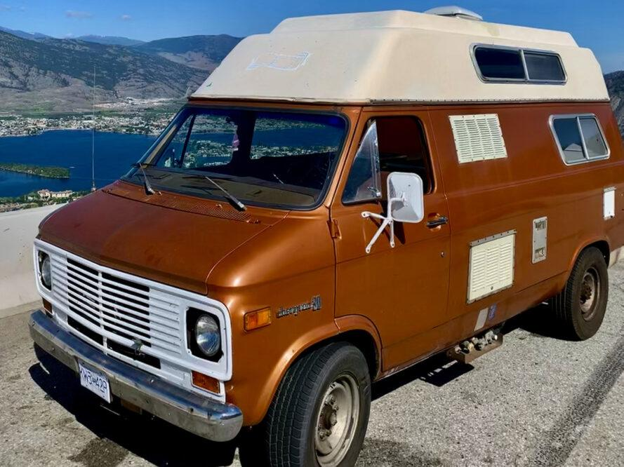Couple renovates 1975 Chevy van for minimalist living during pandemic