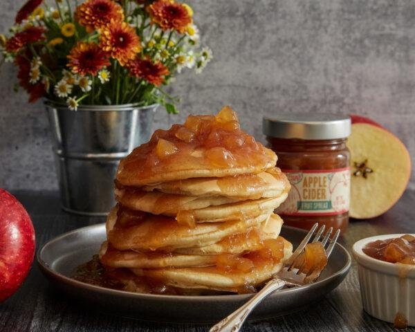 pancakes with apple cider jam