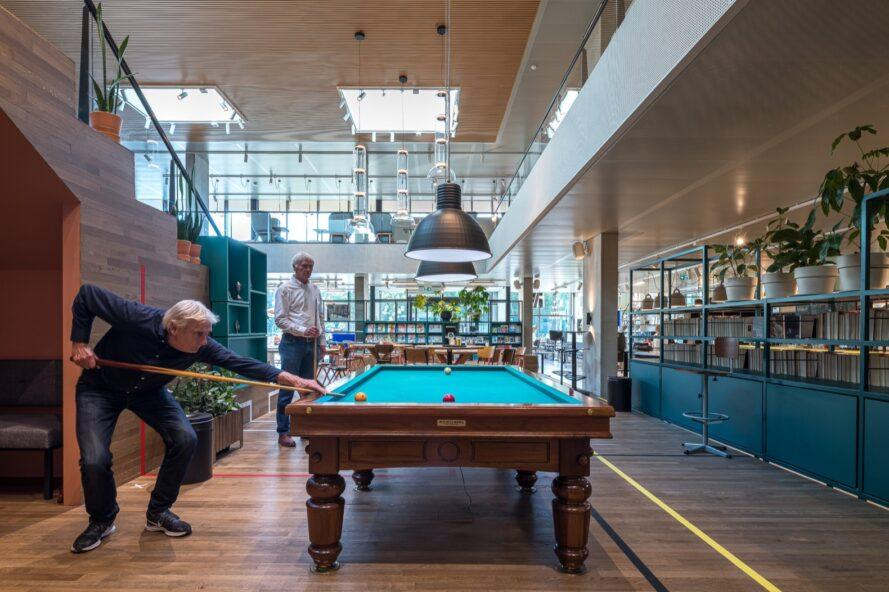 pool table in a community center