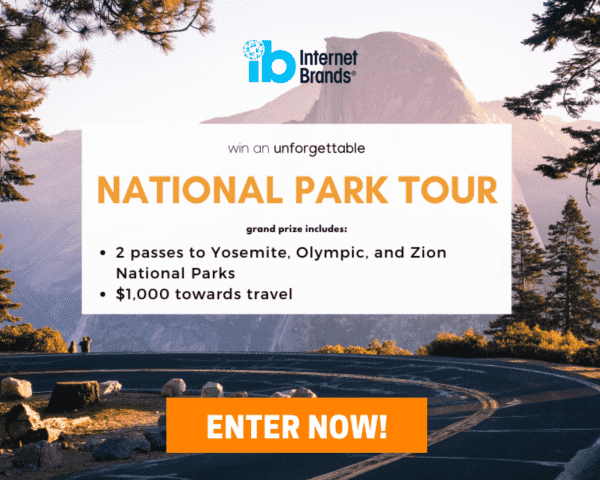 National Park Tour Sweepstakes Enter Now Button