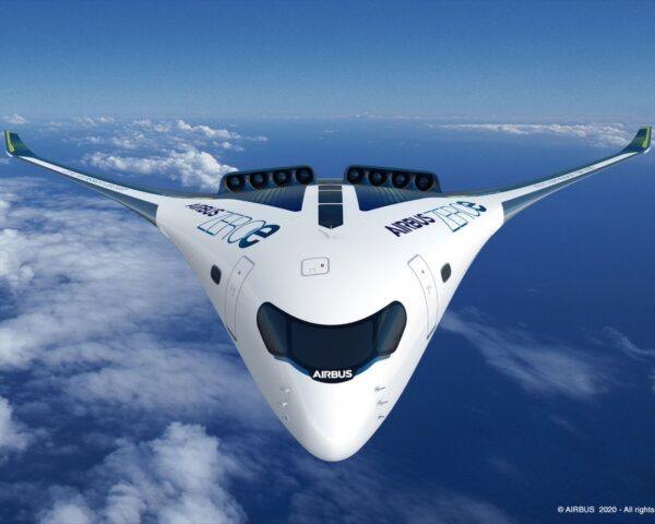 rendering of front of hydrogen plane