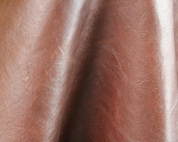 close-up of leather made from scraps