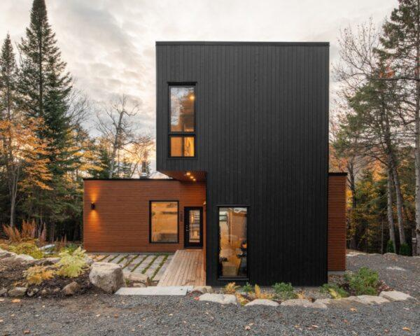 large black and brown home