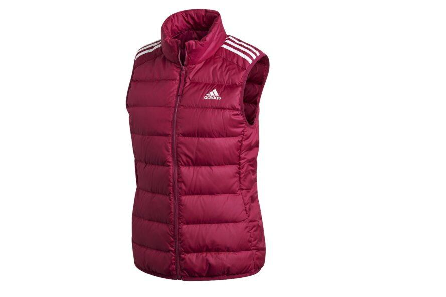 A puffy red Adidas vest.
