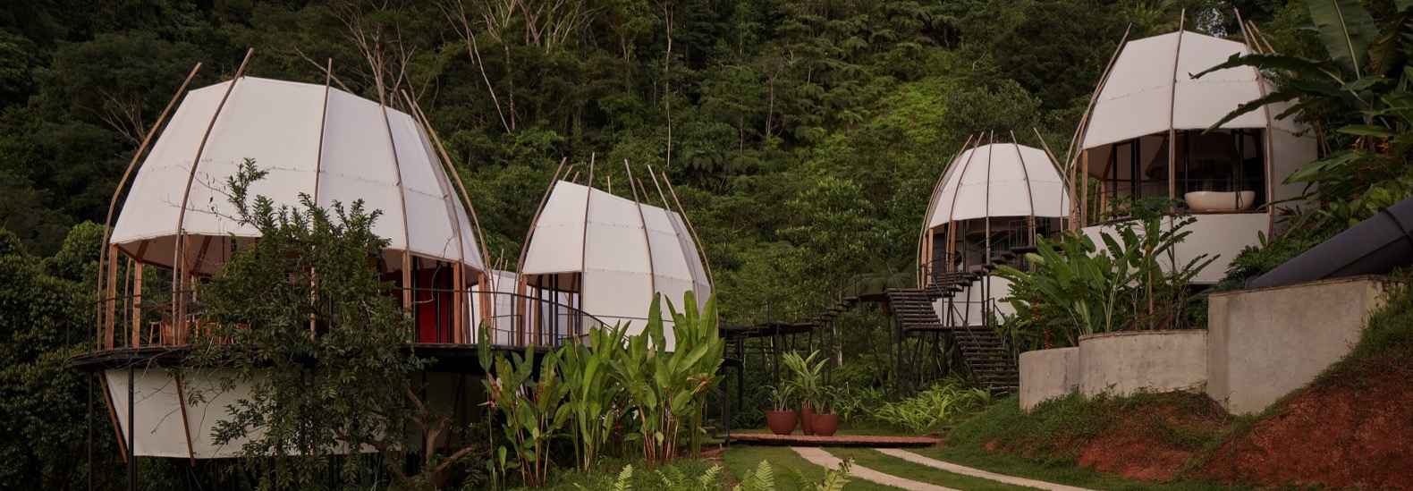 Pod-shaped Coco Villa immerses guests in nature and luxury