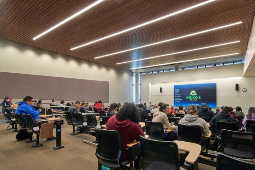 college classroom filled with students